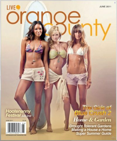 Blue Crush 2 Cover for Live OC Magazine. Featuring Sasha Jackson, Elizabeth Mathis, and Sharni Vinson. Image be Efren Beltran Photography