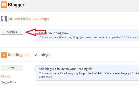 How to Start a Blog Step 2
