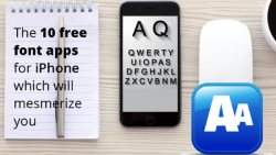free font apps for iPhone