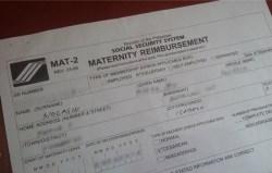 How to Reimburse SSS Maternity Benefits