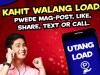 Using TM Utang Load – Loan Calls, Text, Internet, and Combinations Promo