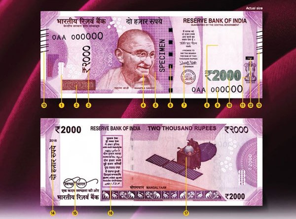 Fake Rs 2,000 note