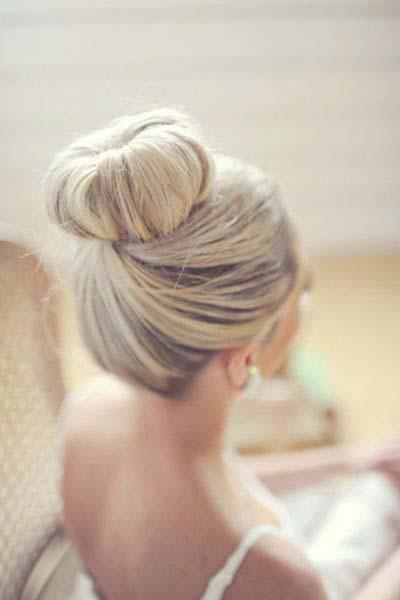 punđa sa umetkom u kosi