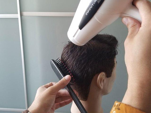 feniranje muške kose