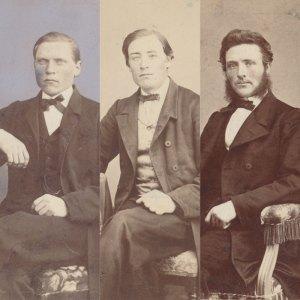 EFS första missionärer – C J Carlsson, P E Kjellberg och L J Lange