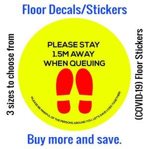 Coronavirus (COVID-19) Floor Sticker – 02