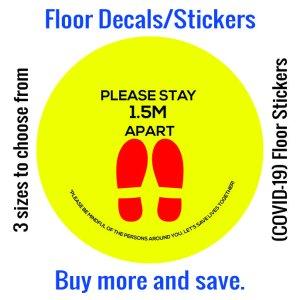 Coronavirus (COVID-19) Floor Sticker 03
