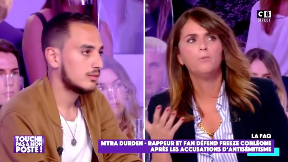 Myra Durden défend Freeze Corleone attaqué par Valérie Benaïm chez Cyril Hanouna