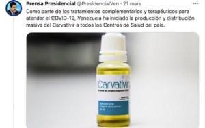 Le Venezuela démarre la distribution gratuite de son médicament contre le covid-19