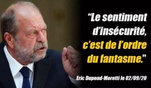 Dupond-Moretti annonce tranquillement la sortie de prison d'une centaine de terroristes