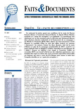 """Faits & Documents vous présente le second numéro de son enquête sur le """"pacte de corruption"""" d'Emmanuel Macron"""
