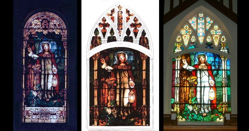 Leaside-United-Church-Reclaimed-Stained-Glass-Window-before-after