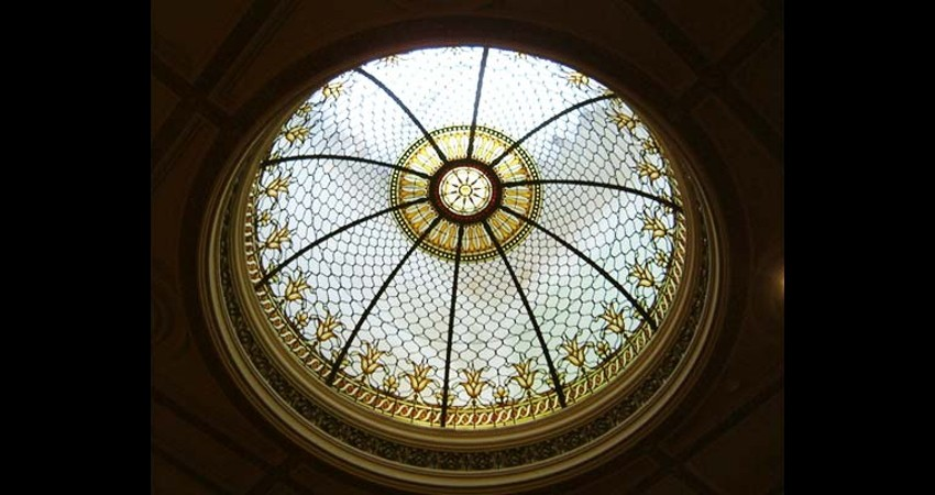 Osgoode Hall Law Society Toronto Ontario EGD Glass Restoration Stained Glass Dome
