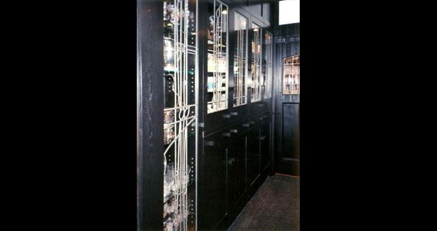 Private Residence High Park Toronto New Work Original Stained EGD Glass Cabinets