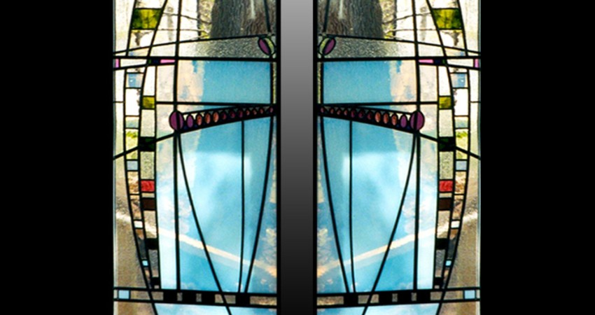 Private Residence High Park Toronto New Work Original Stained EGD Glass Marilyn Windows close up