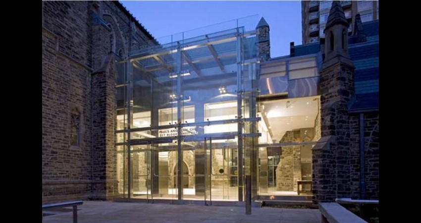 St. Paul's Anglican Church Toronto Ontario EGD Glass Restoration - Renovated Outside
