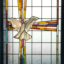 Wexford Retirement Residence, Toronto, Ontario Stained Glass Window Dove New Work Portfolio EGD Glass