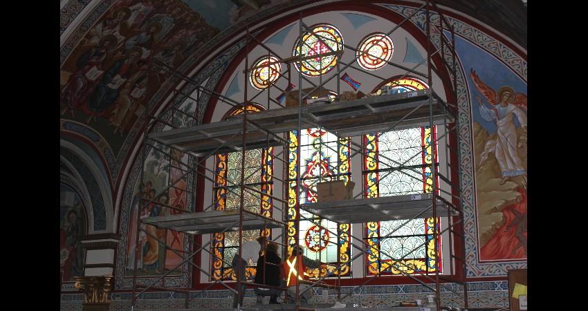 Holy Trinity Russian Orthodox Cathedral EGD Glass Restoration 1