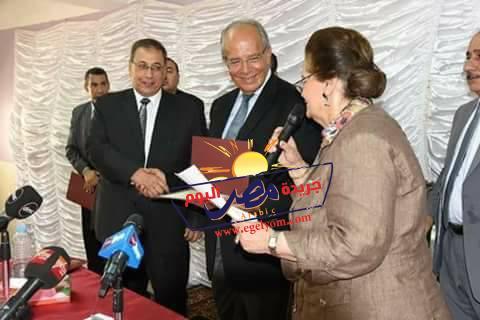 وزير التنمية المحلية يكرم المتميزين من رؤساء المدن والقيادات المحلية بالبحيرة |