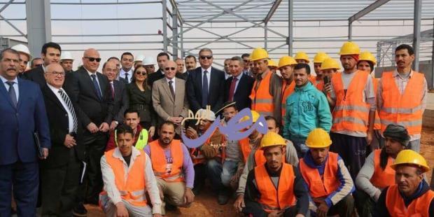 وزراء الشباب والإنتاج الحربي والاستثمار يتفقدون مشروع إنشاء مصنع النجيل الصناعي |