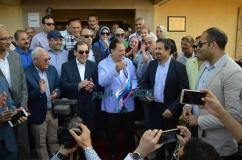 محافظ بورسعيد وزيري الصحة والبترول يفتتحوا وحدة الجرابعة |