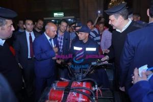 الفريق كامل الوزير وزير النقل فى جولة تفقدية لمحطة قطارات مصر لمتابعة الأنضباط وانتظام الخدمة بها |