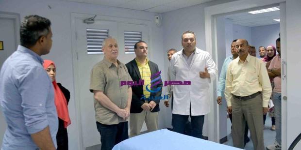 الهم يتفقد مركز صندوق تحيا مصر لعلاج فيروس سى بالاقصر  