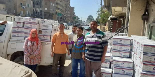 تموين الفيوم : ضبط ١٤ ألف علبه أدويه بيطريه منتهيه الصلاحيه