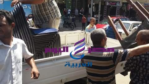 حملات مستمرة لرفع الاشغالات من الشارع الدسوقى |