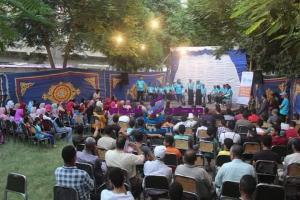 المسرح التفاعلي لمناقشة قضايا الصحة الانجابية نادي السكان بمركز شباب بحي السلام |