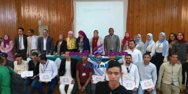 تكريم المتميزين بقسم الإرشاد السياحي جامعه المنيا اليوم. |