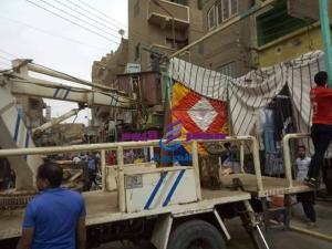 استمرار حملات رفع الإشغالات بمراكز سوهاج  