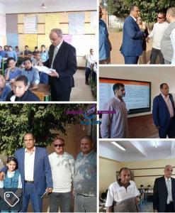 الشربيني مدير تعليم القناطر الخيريه بجوله مكوكيه للتفتيش علي المدارس