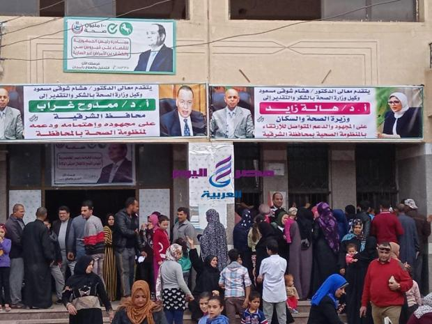محافظة الشرقية توقع الكشف الطبي علي ٢٣٠٠ مريض  
