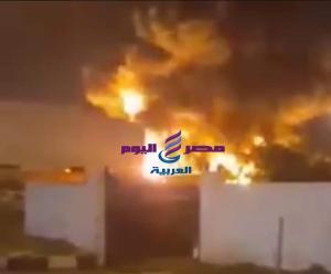 حريق هائل بمصنع بلاستيك ببرج العرب بالاسكندرية |