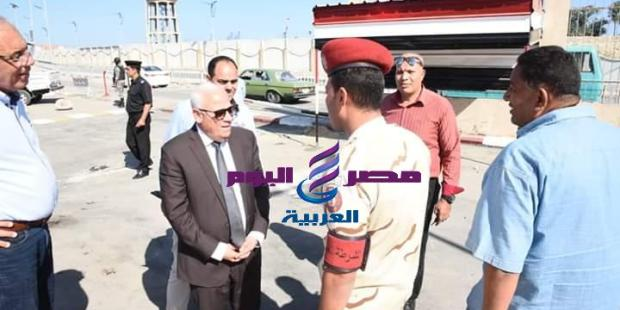 محافظ بورسعيد :جارى الانتهاء من أعمال تطوير مدخل بورسعيد الجنوبى  