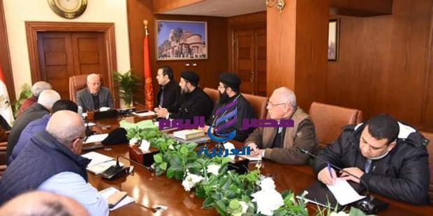 بالصور اللجنة المكلفة بإدراج محافظة بورسعيد ضمن مسار العائلة المقدسة |