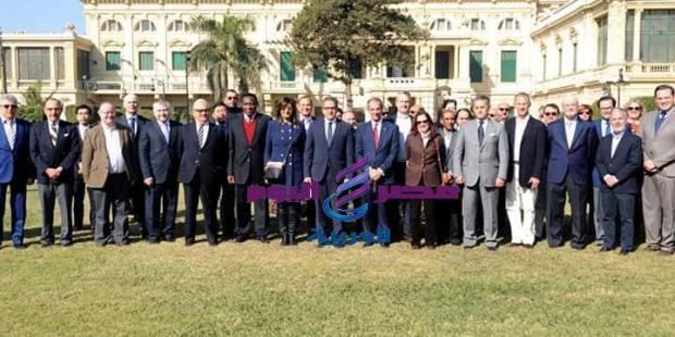 سفراء ٤٠ دولة أجنبية في مصر يزورون قصر عابدين -