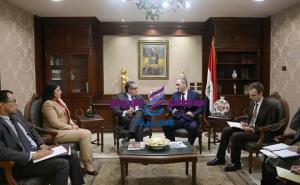وزير السياحة والآثار يلتقي بالسفير سيرجى تيرتنتييف سفير دولة بيلاروسيا بالقاهرة.