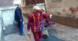 رئيس حى شمال يقود حملة نظافة بحى البرماوى بدسوق