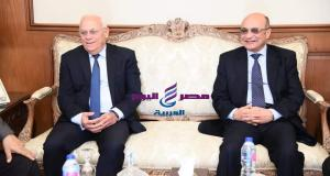 محافظ بورسعيد يستقبل المستشار وزير العدل بديوان المحافظة | محافظ بورسعيد