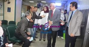 رئيس جامعة المنصورة يتفقد اجراءات الوقاية لفيروس كورونا بالمستشفيات والعيادات الخارجية | رئيس