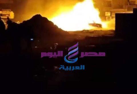 عاجل.. الحماية المدنية تسيطر على حريق ماسورة غاز كوبرى حلمية الزيتون | عاجل