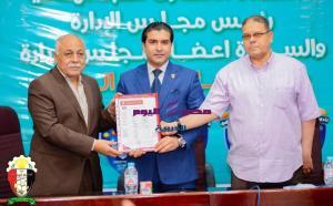 الدكتور أيمن مختار وأحمد سمير يدشنان رياضة الميني فوتبول بمحافظة الدقهلية   أحمد سمير