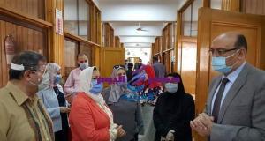 عطيه نائب رئيس جامعة المنصوره يتابع أليات بدء اختبارات الفصل الدراسي الثاني | رئيس جامعة المنصوره