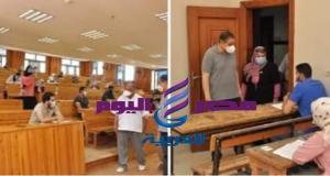 دسوقى ..يحرص على تهيئة اجواء مناسبة للطلاب داخل لجان الامتحانات بجامعة كفر الشيخ | اجواء
