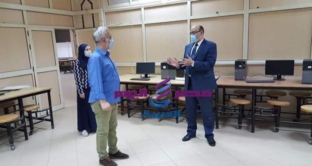 عطيه نائب رئيس جامعة المنصوره يتابع استعدادات كلية الفنون الجميلة لإختبارات الفصل الدراسي الثاني | نائب رئيس