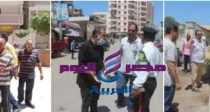 إزالة الاشغالات والتعديات بمدينة دسوق لعودة الانضباط بالشارع