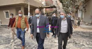 محافظ أسيوط بتفقد اعمال الرصف بمدينة أبنوب ويشدد على مراعاة معايير الجودة | الرصف