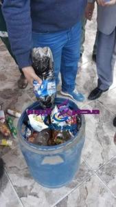 ضبط 380 كرتونة مواد غذائية وطن ألبان غير صالحة للإستخدام الأدمى، | ضبط